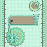 Scrap book design card Royalty Free Stock Photos