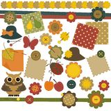 Scrap Booking Set With Different Objects Stock Image