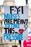 NHS - SCRAP THE CAP PROTEST Stock Photo