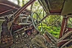 Scrap car  in the  woods. Scrap car  in the woods Stock Photo