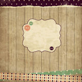 Scrap card,vintage design royalty free illustration