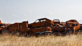 Scrap cars Royalty Free Stock Images