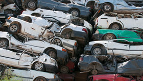Scrap cars for recycling Royalty Free Stock Image