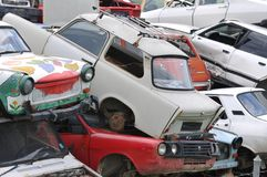 Scrap cars yard Royalty Free Stock Photography