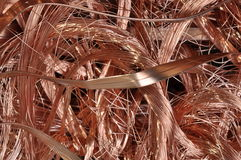 Scrap copper wire. Energy industry Stock Images