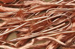 Scrap copper wires Royalty Free Stock Image