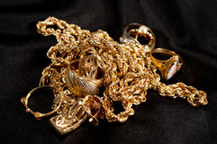 Scrap gold Stock Photos