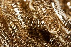 Scrap gold Shavings stock photo