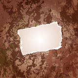 Scrap on grungy background. A grungy background with a paper scrap vector illustration