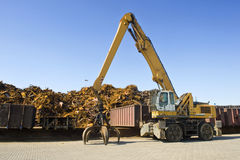 Scrap Heap Crane Royalty Free Stock Image