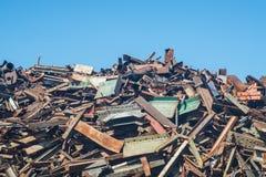 Scrap heap with metal scrap Stock Photo