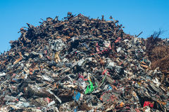 Scrap heap with metal scrap Stock Image