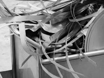 SCRAP HEAP OF SILICON STEELS AND RUSTIC METALS Royalty Free Stock Image