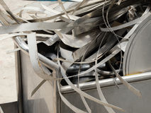 SCRAP HEAP OF SILICON STEELS AND RUSTIC METALS Stock Photo
