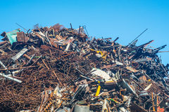 Scrap-heap of steel Royalty Free Stock Photo