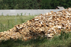 Scrap heap of wooden planks Stock Image