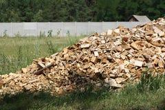 Scrap heap of wooden planks Stock Image