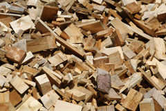 Scrap heap of wooden planks Royalty Free Stock Image