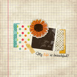 Scrap holiday template Royalty Free Stock Photos
