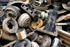 Scrap Iron & Steel. Piled with old iron and steel recycling Reuse stock photography
