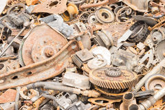 Scrap iron unused, rubble, remnant of iron Stock Photography