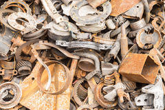 Scrap iron unused, rubble, remnant of iron Royalty Free Stock Photos