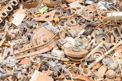 Scrap iron unused, rubble, remnant of iron Stock Images