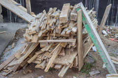Scrap lumber at construction sites Stock Photography