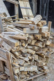 Scrap lumber at construction sites Royalty Free Stock Images