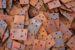 Scrap Metal 01. Pile of scrap steel from railway construction Royalty Free Stock Photo