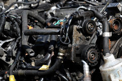 Scrap Metal. A selection of scrap metal car parts piping and tubing Stock Photography