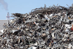 Scrap metal. Garbage dump of metal and iron Stock Images