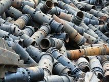 Scrap metal. Dump of scrap metal in territory of a factory Stock Photo