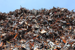 Scrap metal. Pile of scrap metal for recycling Royalty Free Stock Images