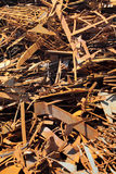 Scrap metal. Pile of scrap metal background Stock Photos