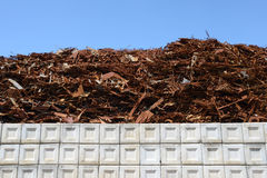 Scrap metal. Pile of scrap metal at a recycling Royalty Free Stock Image