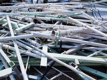 Scrap Metal and Scrap Aluminum Of the building demolition To recycle Concept for building contractor and Local Scrap Metal Recycli stock images