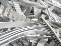 Scrap metal aluminum Stock Photos