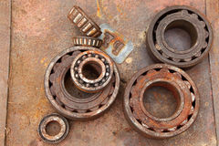 Scrap Metal bearing Stock Photo
