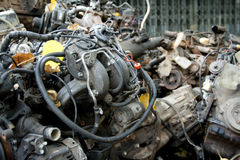 Scrap metal from car engine Royalty Free Stock Photography