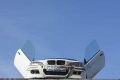 Scrap metal car Stock Photos