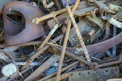 Scrap metal close up Stock Photos