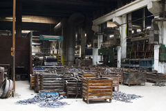 Scrap metal containers Stock Image