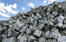 Scrap metal cubes Stock Photography