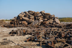 Scrap metal heap Stock Images