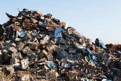Scrap metal heap Stock Photo