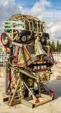 Scrap Metal Human Robot Head Royalty Free Stock Image