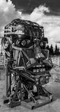Scrap Metal Human Robot Head Stock Photo