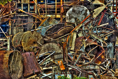 Scrap Metal From Imperial Sugar Mill Tear Down Sugar Land Texas Royalty Free Stock Photos