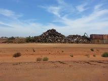 Scrap metal junk stockpile yard Stock Photos